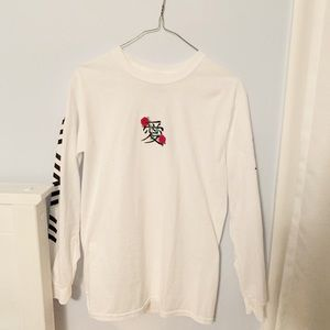 NWOT mens riot society geo kanji embroidered tee